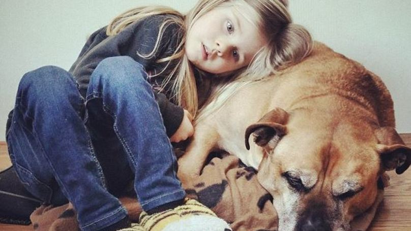 Little Girl Says Goodbye To Dog Moments Before It's Put Down