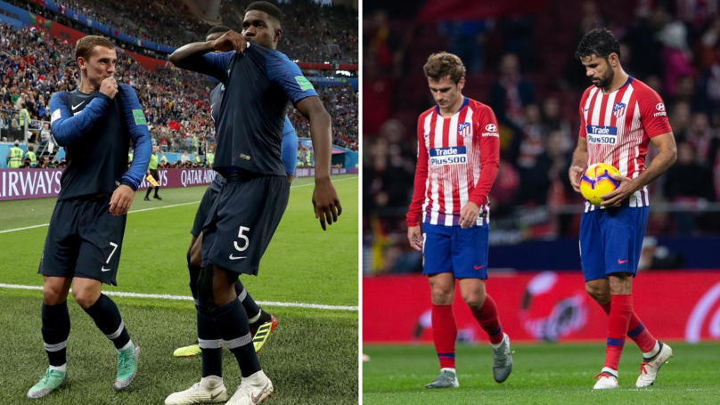 What Diego Costa Shouted At Antoine Griezmann For Siding With Samuel Umtiti In Brawl