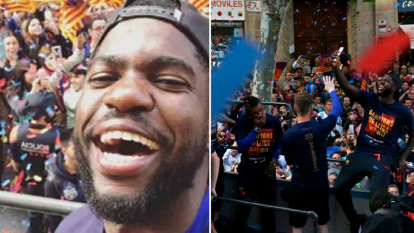 Samuel Umtiti Has Made A Journalist Furious During Barca's Open Bus Parade