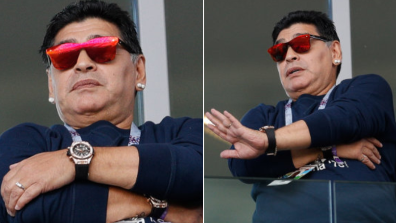 Diego Maradona Responds To Claim He Made Racist Gesture At The World Cup