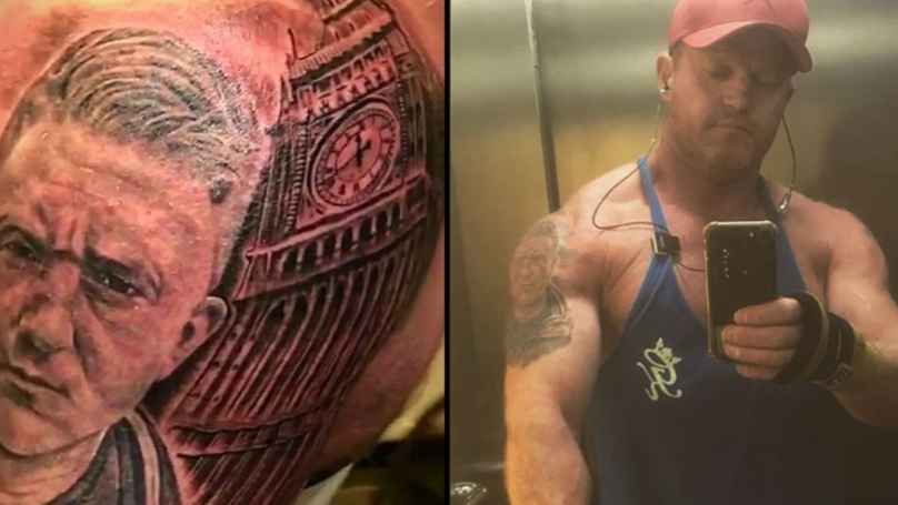 Man Spends £600 On Massive Tommy Robinson Tattoo