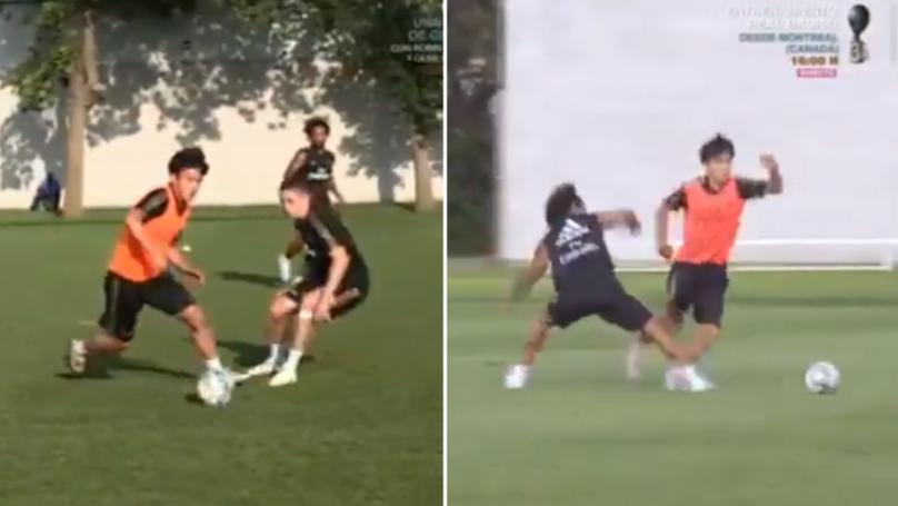 Real Madrid Wonderkid Takefusa Kubo Makes His Teammates Look Like Amateurs In Stunning Training Highlights