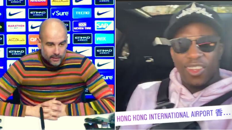 Pep Guardiola Swears On Live TV When Asked About Benjamin Mendy, He Hilariously Responds