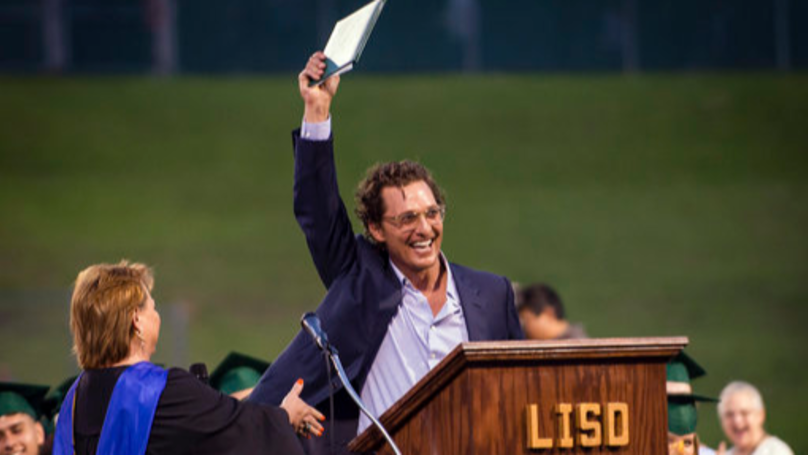 Matthew McConaughey Returns To High School And Gets Diploma From 1988