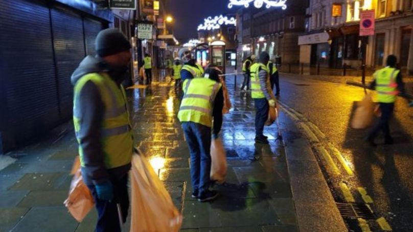 Young Muslims Clean Up UK Streets After New Year's Eve Celebrations