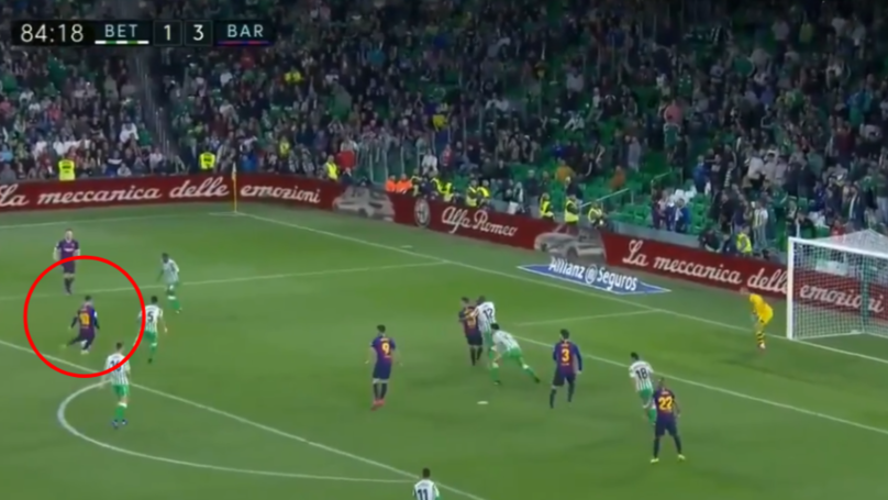 Lionel Messi Brilliantly Chips The Keeper From Inside The Box To Complete Stunning Hat-Trick