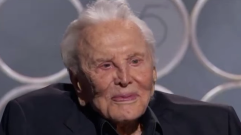 Hollywood Veteran Kirk Douglas Receives Standing Ovation At Golden Globes