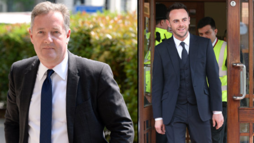 Piers Morgan Baffled After Ant McPartlin Is Nominated For National Television Awards
