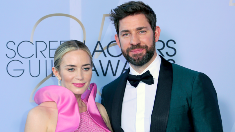 Emily Blunt's SAG Speech Leaves Husband John Krasinski In Tears