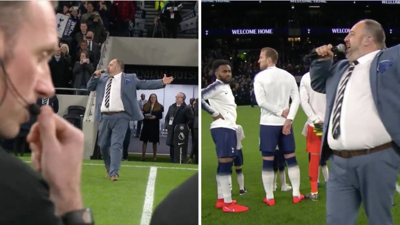 Man From Go Compare Advert Sings During Tottenham's Opening Ceremony