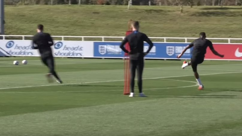 Marcus Rashford Ruins Lewis Dunk During His First England Training Session