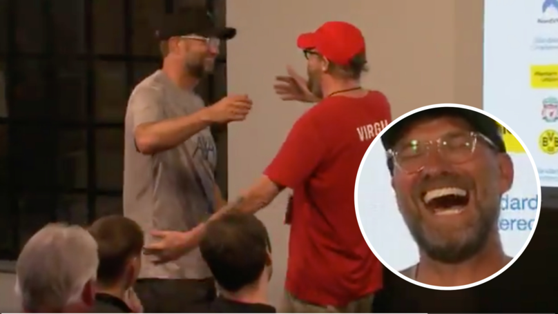 Jurgen Klopp Hugs Journalist Who Dressed Up As His Doppelganger In Post-Match Conference