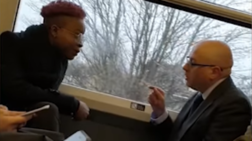 Woman Uses Racial Slurs Against Man In Row On Packed Train