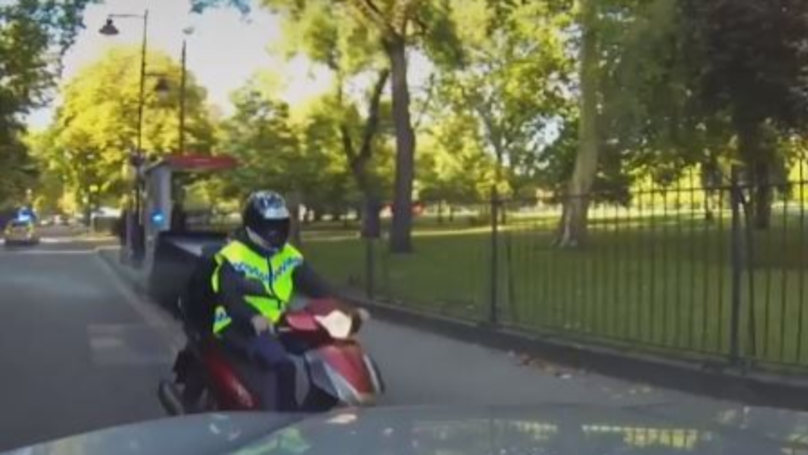 Police Ram Moped Thief Clean Off Bike In High Speed Chase