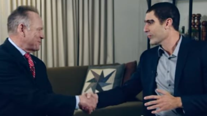 Sacha Baron Cohen Gives US Politician Roy Moore A 'Paedophile Test'