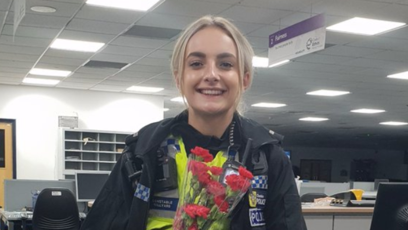 Man Buys Flowers For Police Officer Who Helped Talk Him Down From Bridge