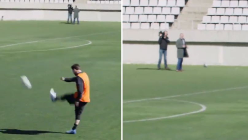 When Lionel Messi Casually Nutmegged A Reporter From 50-Yards