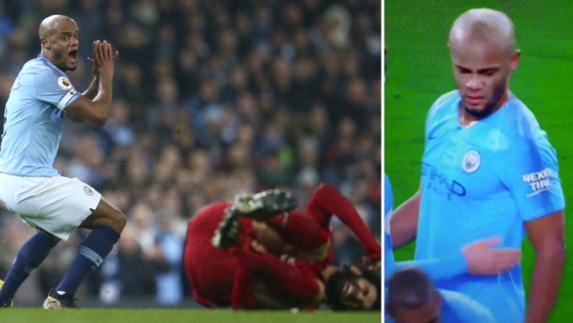 Fans Think They've Worked Out What Vincent Kompany Told Mohamed Salah After Challenge