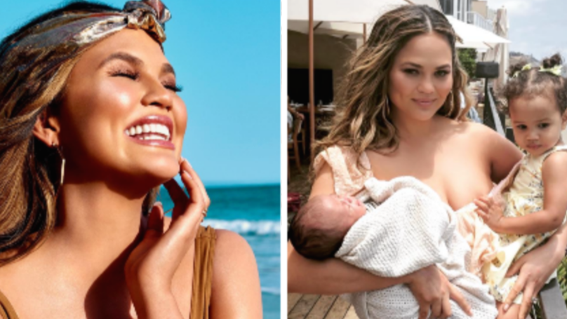 Chrissy Teigen Shows Off Her Stretch Marks In Holiday Snaps