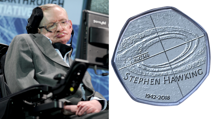 Royal Mint Releasing Commemorative 50p Coin To Celebrate Stephen Hawking