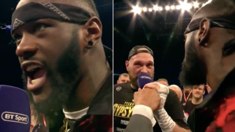 Deontay Wilder Confirms Fight With Tyson Fury Is On, Both Square Up In Ring
