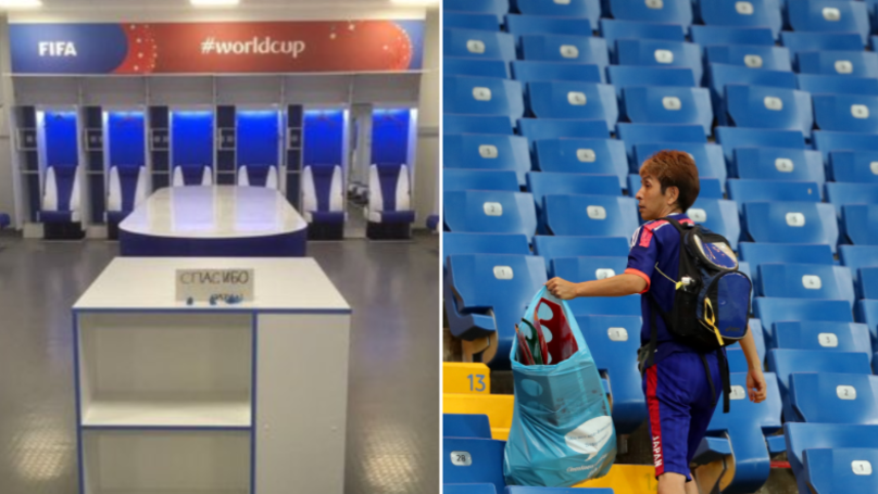 The Japan Team Left Their Changing Room Spotless After Belgium Loss