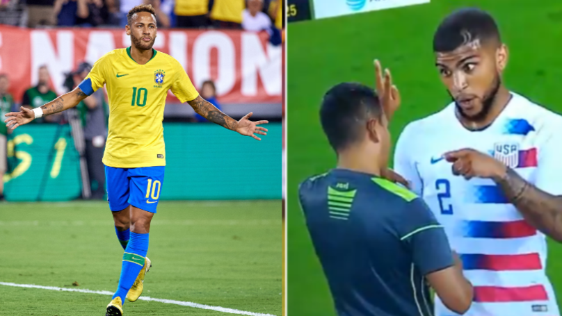 Neymar Responds To DeAndre Yedlin's Viral Reaction To Referee After Foul