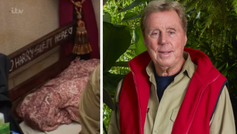 ​I'm A Celebrity Fans Spot Harry Redknapp's 'Secret Message' On His Bed