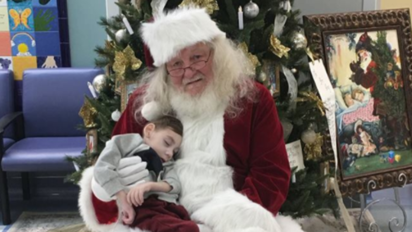 'Santa' Makes Visit To Hospice To See Terminally Ill Toddler