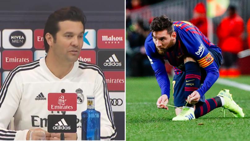 What Real Madrid Manager Santiago Solari Has Said About Lionel Messi Ahead Of El Clasico
