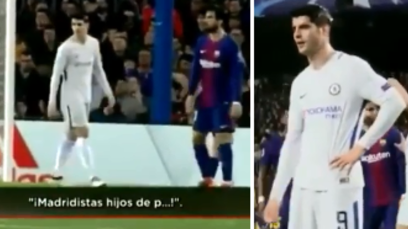 Barcelona Fans Sing Anti-Real Madrid Chant, Alvaro Morata Produces Obscene Gesture
