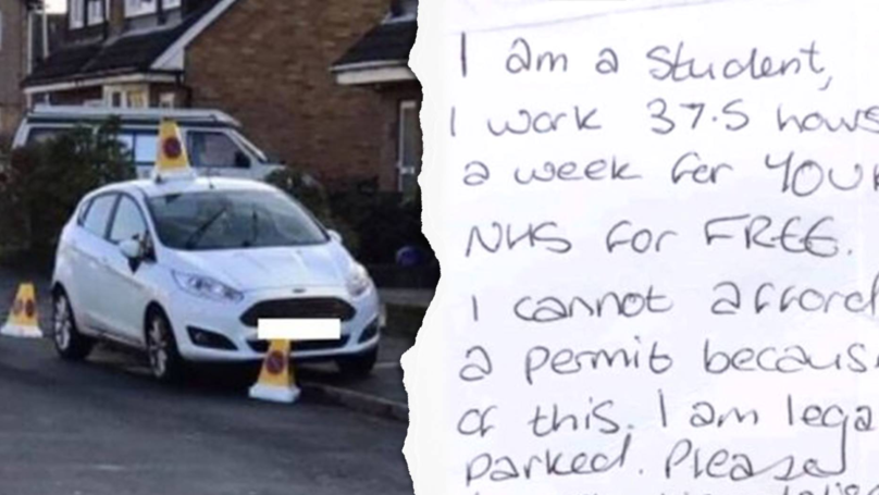 Student Nurse Leaves Note On Her Car After Being Targeted By Vandals