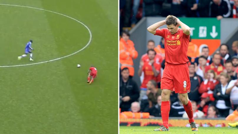 Chelsea Start Mind Games Early By Posting Steven Gerrard's Slip