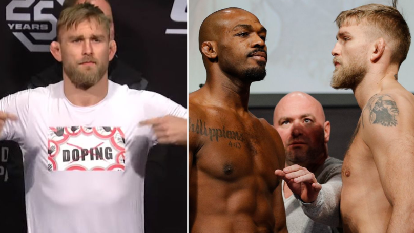 Alexander Gustafsson Wears Anti-Doping Shirt At UFC 232 Weigh-In