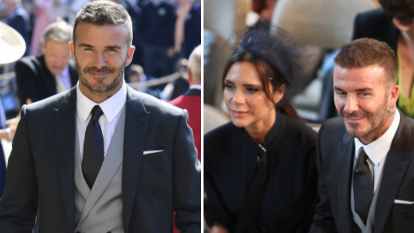The Etiquette Police Caught David Beckham Chewing Gum At Royal Wedding