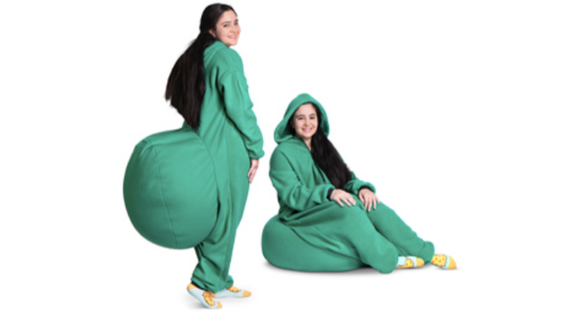 This Magical Beanbag Onesie Lets You Sit Down Wherever You Go