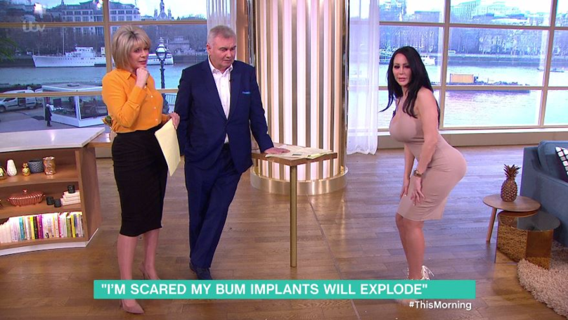 Woman With Botched Bum Implants Can't Sit Down On 'This Morning'