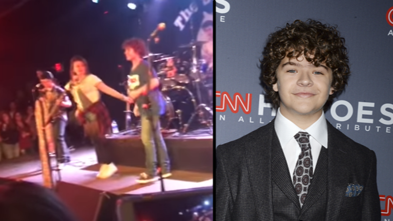 Fans Scream As Dustin From 'Stranger Things' Rocks Out With Band In New Jersey