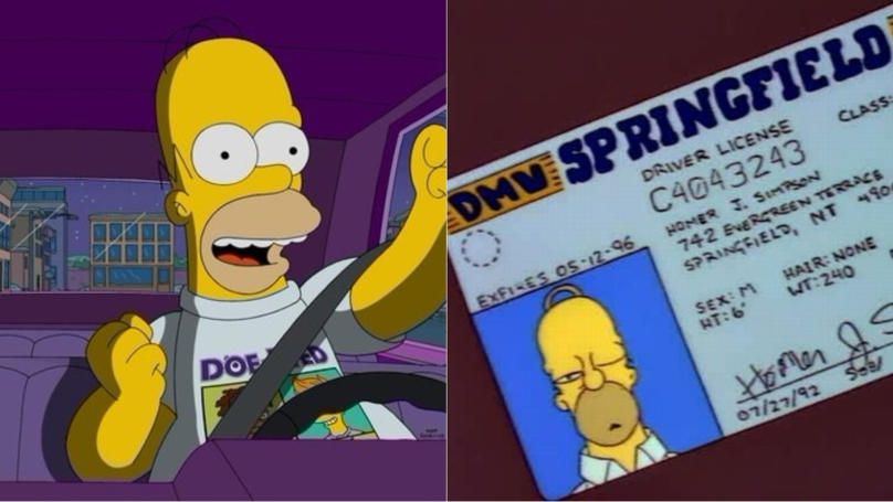 ​Man With Homer Simpson Driving Licence Gets Pulled Over By Police