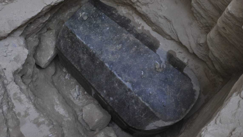 A Massive Black Granite Sarcophagus Has Been Unearthed In Egypt