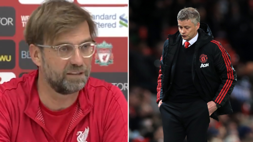Jurgen Klopp Reacts To Manchester United Losing To Manchester City