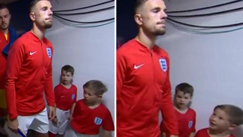 You May Have Missed Jordan Henderson Pieing Off Young Mascot