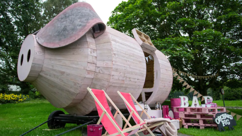 Orchard Pig Cider Has Built A Massive Wooden Pig You Can Stay In