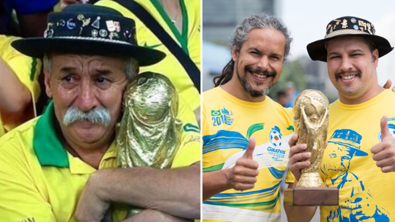 Sons Of Brazil's Most Famous Fan Are Continuing His Legacy At The World Cup