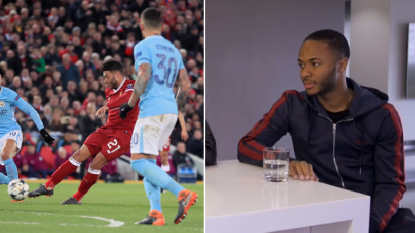 Raheem Sterling Brilliantly Explains How Oxlade-Chamberlain's Goal Left Him 'Fuming'