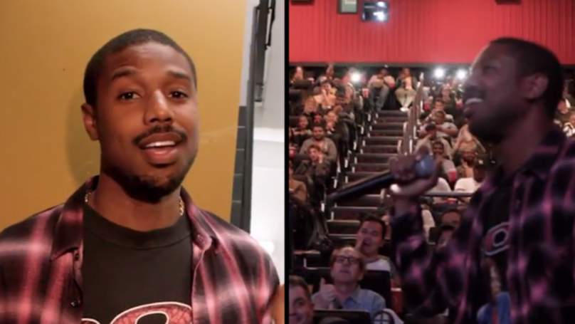 Michael B. Jordan Surprises Fans At 'Creed II' Trailer Screening