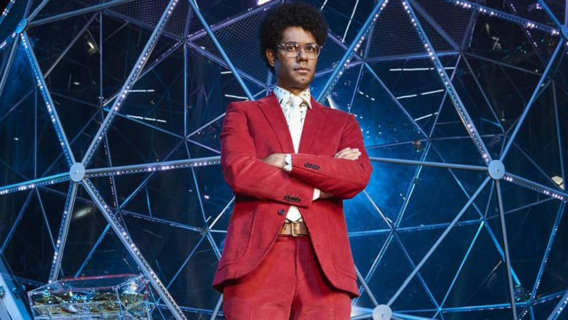 Richard Ayoade Left Speechless After 'Crystal Maze' Contestant Loses Her Wig
