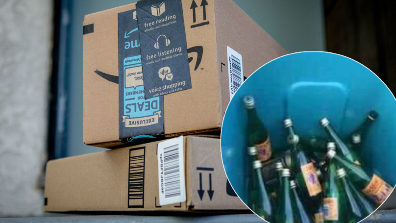Customer Misses Amazon Delivery So Driver Leaves Package In 'Bucky Bin'