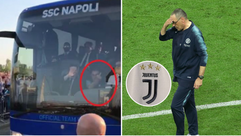 Maurizio Sarri Gave Juventus Fans The Middle Finger During Time At Napoli