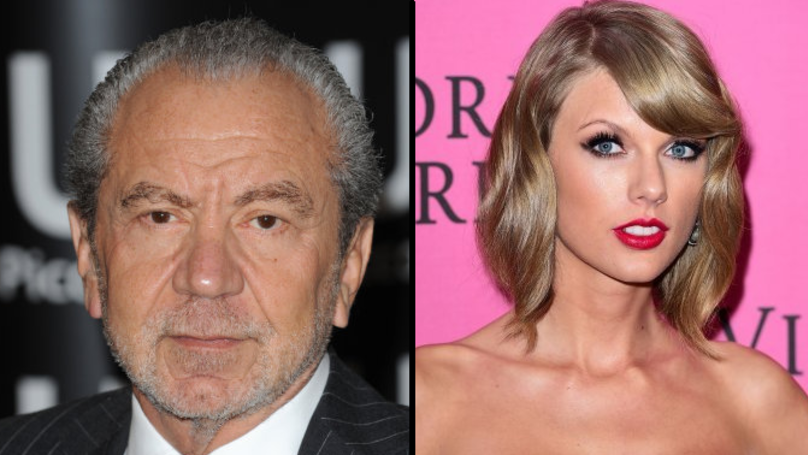 Lord Alan Sugar Thinks Taylor Swift Has A Swastika Tattoo After Seeing It On 'The Onion'
